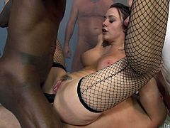 Chanel Preston the stunning goddess gives pleasure to several dudes. She sucks their dicks passionately and then gets fucked in all holes.