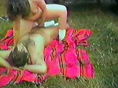 You will love this retro video. Some hot brunette chicks suck big dicks and get their pussies licked. One of them rides a dick at a picnic and the other one masturbates in a bedroom.