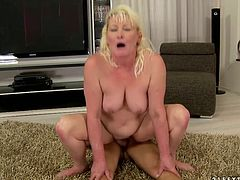 Her wet pussy is getting eaten by her illegal friend Jose from mexico, with his big and fat penis.She lies on the floor with her nahds and legs spreaded wide.Watch this crazy cunnilingus in 21 Sextury sex clips.