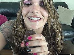 Dirty talking Southern Belle milks monster load from BBC