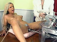Hot Velvet Rose Fucked by Machine When Blonde Dominates Her
