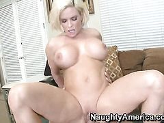 Diamond Foxxx with big knockers and trimmed muff takes Rocco Reeds cock in her wet spot