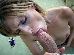 Amazing blond milf with a very mysterious tattoo on her back loves it huge! She takes that dick in her sweet mouth and then enjoys it in doggy style!