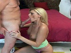 Dude fucks a super hot blonde milf