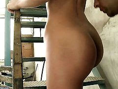 Shalina Divine gets her mouth attacked by guys meaty erect meat pole