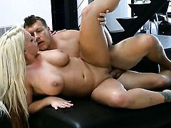 Blonde Sadie Swede with big melons gets pounded literally to death