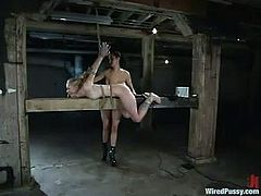 Thie charming blond honey is so fucking unlucky to be given to Princess Donna Dolore's possession. Seems like she hates women and she loves fucking them up!
