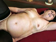 The chubby granny Margo T is going to get her pussy eaten and fucked by a cock that could well be her grandson's.