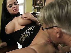 Anastasia Brill is ready to spend hours with Christoph Clarks meat pole in her mouth