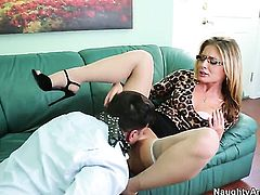 Anthony Rosano bangs sultry Sheena Shaws butt in every sex positon