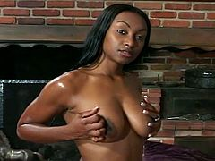 Busty ebony whore and monster black cock meet today for some shameless pounding encounter. She entices her with her horny moves. She gives him the attention that huge tool needs with her wet pussy slit.