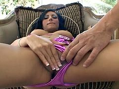 Without even taking her sexy purple bikini off, the nasty brunette Lela Star blows her man's dong. Then watch her cunt getting drilled balls deep into a spectacular orgasm.