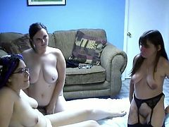 Watch these three horny MILFs having fun playing with each other in the bedroom,touching and rubbin their wet pussies in Chick Pass Network sex clips.