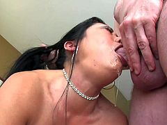 Kaiya Lynn is here again and gets her asian mouth fucked with no mercy one more time. Raven haired asian bitch gets her mouth filled with thick meaty cock. Watch her give blowjob with tears in her eyes.