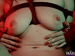 You are welcome here to be pleased with one another hot bdsm sex video from Harmony Vision porn site. Enjoy watching hot threesome video for free.