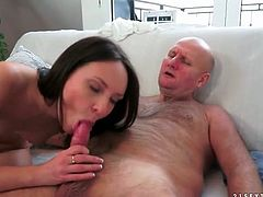 Nataly Von fucked by old guy that cums