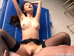 What a horny mistress Miki Ishihara is! Babe ties up two dudes on the chair and rides them one by one! Honey loves dominating!