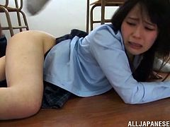 It's gangbang time at school for Ruka Kanae who gets fucked by many cocks and ends up with a bukkake on her.