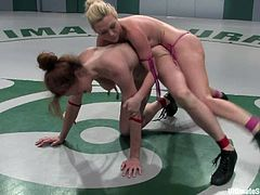 It starts as a catfight but since they're both naked it will obviously end up in sex action, hit play and check it out right here, it's fuckin' sweet!