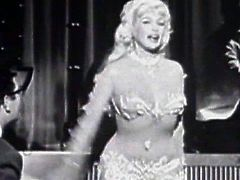 Superb blonde posing and teasing in hot vintage classic porn session