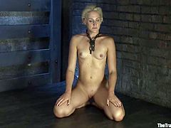 Well, this time honey is being trapped and twitched in her hot vagina lips. What surely makes her feel some pain is a very uncomfortable suspension!