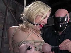 Adrianna Nicole loves some torments in BDSM scene with Sgt. Major
