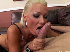 Brazen hussy Diana Doll seduces the guy for sex. So she reveals meaty cock out of dude's pants. Diana takes juicy cock in her thirsty mouth sucking the rod properly.