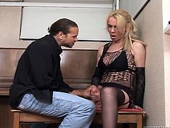 Sizzling and naughty tranny is going dirty in the office! Zamira is her name and she is going to fuck that dude named Chris Dano!
