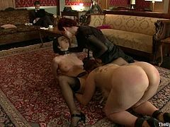 Two naughty and kinky sirens Bella Rossi and Cherry Torn are being humiliated pretty hard! They get naked and start being tortured so fucking hard!