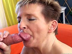 Here is a mature whore who gets some hot anal sex and a cumshot for this sex video. She loves to fuck and knows how to do it good.