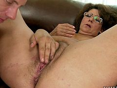 Watch this old lady getting her wet but not so tight pussy fucked really hard and nice by large cock of her new friend who loves to fuck ld ladies in 21 Sextury sex clips.
