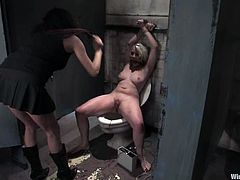 Danny Wylde humiliates and fucks Lorelei Lee in a foul toilet