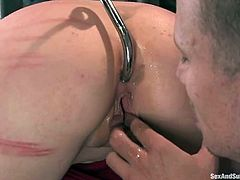Salacious blonde Lorelei Lee is having a good time with Mr. Pete. She lets the man tie her up and then enjoys having a toy in her butt and Pete's dick in her twat.