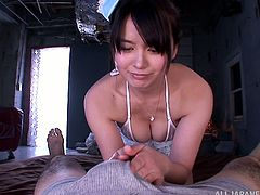 Cock sucking is what she likes to do while she is fucked in her pussy at same time, this nasty Japanese slut can not wait to enjoy in group sex.