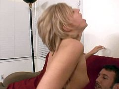 Turned on experienced tall stud Jordan Ash brings home cute blonde Stephanie with small boobies and drill her sweet tight pussy to screaming orgasms in amazing positions by the fireplace.