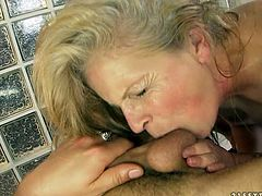 Hussy blond grannie sucks dick of one young guy. She also licks his shaved balls and tickles his anus with playful tongue. Be pleased with one another hot 21 Sextury old+young sex video.