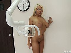 Curvaceous MILF Lylith has got big boobs and delicious round ass. She takes off her clothes in front of the Doc while getting examined by him. She gets special treatment from the Doc.