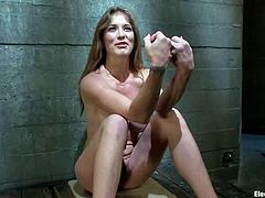 Curvaceous Felony gets wired and humiliated by Bobbi Starr