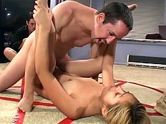 This horny blonde babe Kat loves big fat cocks in her tight pussy and even her ass hole.Watch how she sucks that fat cock and gets her pussy and ass drilled hard.