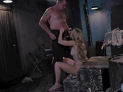 Stunningly beautiful blonde Sierra Day with long legs gets her sweet shaved pussy eaten out and fucked by horny as hell guy in this porn parody. Watch beauty suck and fuck with passion!