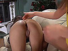 ROSE GETS HER ASS LICKED, FINGERED AND FUCKED WITH A STRAP-ON