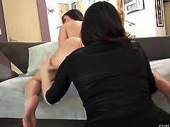Manuel Ferrara drills perfect bodied Mia Golds bum hole in every position before throat job
