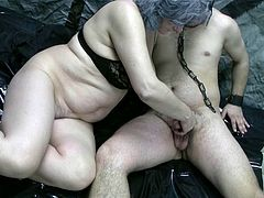 These sex-starved sluts wants to feel the taste of meat in their filthy mouths. They suck this dude's cock passionately. Then they make him worship their pussies.