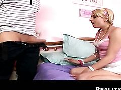 Ramon Nomar gets seduced by Blonde harlot Lexi Belle and then drills her mouth