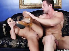 Johnny Castle explores the depth of playful Jessica Jaymess wet muff with his love stick