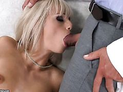 Blonde Erica Fontes loves getting her hole slam fucked