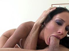 Splendid brunette pornstar Mya Nichole amazes with her superb oral skills