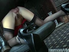 Black haired whore with round ass sends her dirty hairy cunt for a hardcore doggystyle pounding. Bitch also gets her hairy pussy railed missionary style.