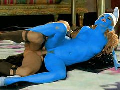 Pornstar Lexi Belle as Smurfette gets her blue trimmed pussy fucked deep and hard by Gragamel in this porn parody. Watch her get her hole seriously drilled in variety of positions.