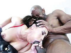 Jessica Bangkok is horny as fuck with Prince Yahshuas love wand in her mouth